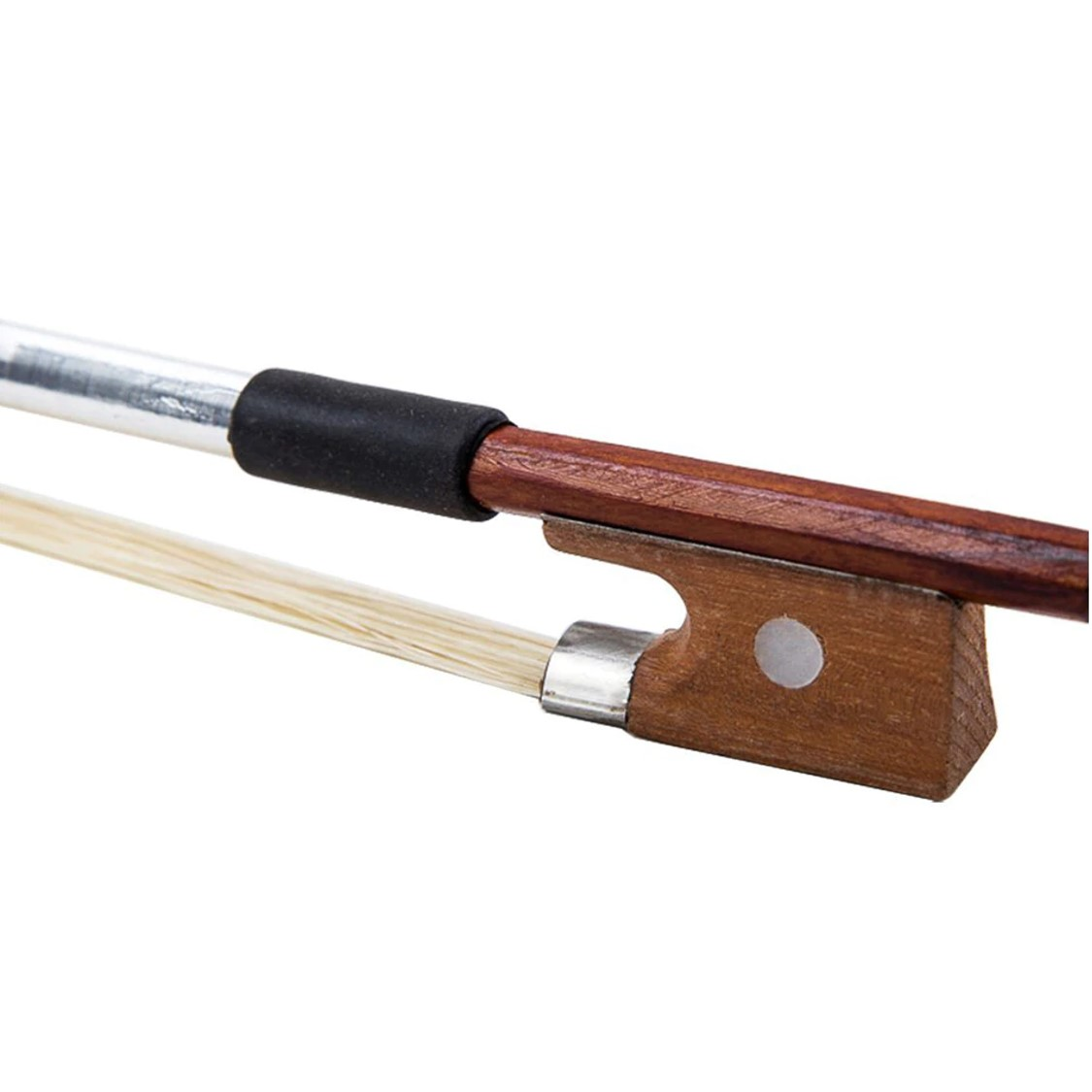 New 4//4 Size Arbor Horsehair Violin Bow Black Handle