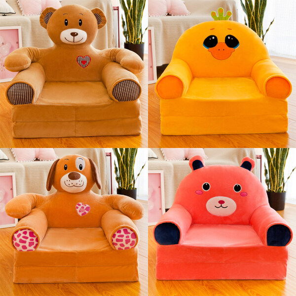 45x50cm Cartoon Foldable Children Seat Sofa Bed Lounger Bed Kid Chair Couch Armrest Armchair