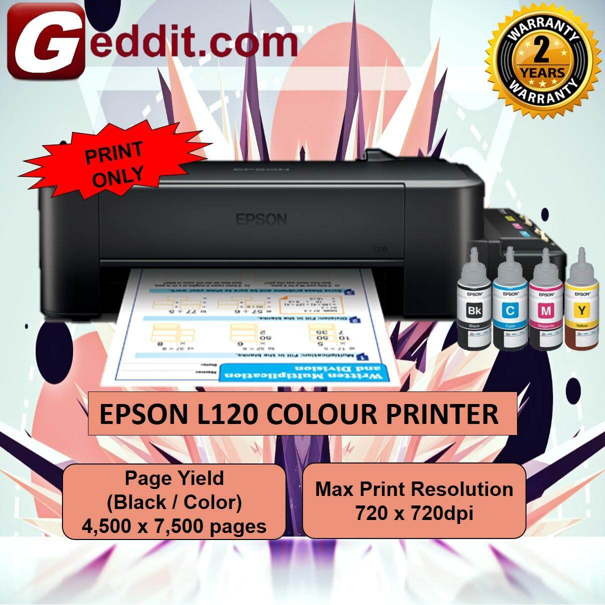 Epson L120 Colour Printer Black (High-yield ink bottles) - PRINT ONLY