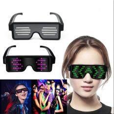 Kính Mắt Đèn LED Sạc USB, Kính Dạ Quang 4 Màu 10 Mẫu Dành Cho Quán Bar Halloween, Chống Rung Không Khí KTV Aokaila