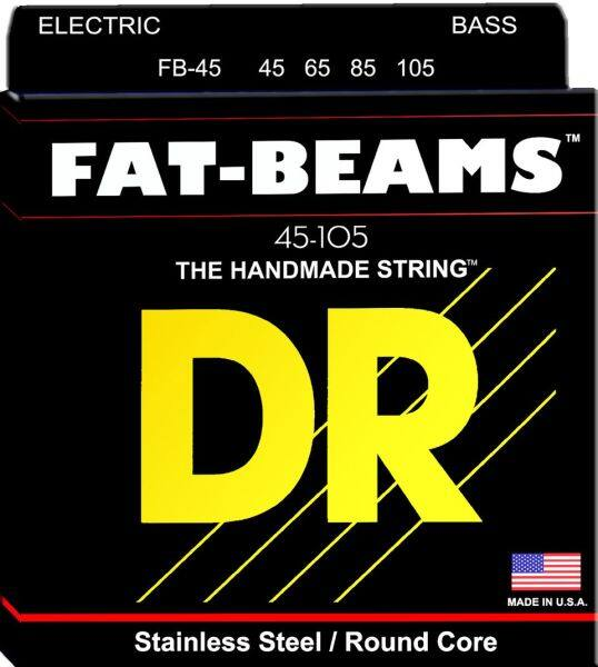 DR Strings FB-45 FAT-BEAM™ - Stainless Steel Bass Strings Set Medium | 4-String | 45-105 Malaysia