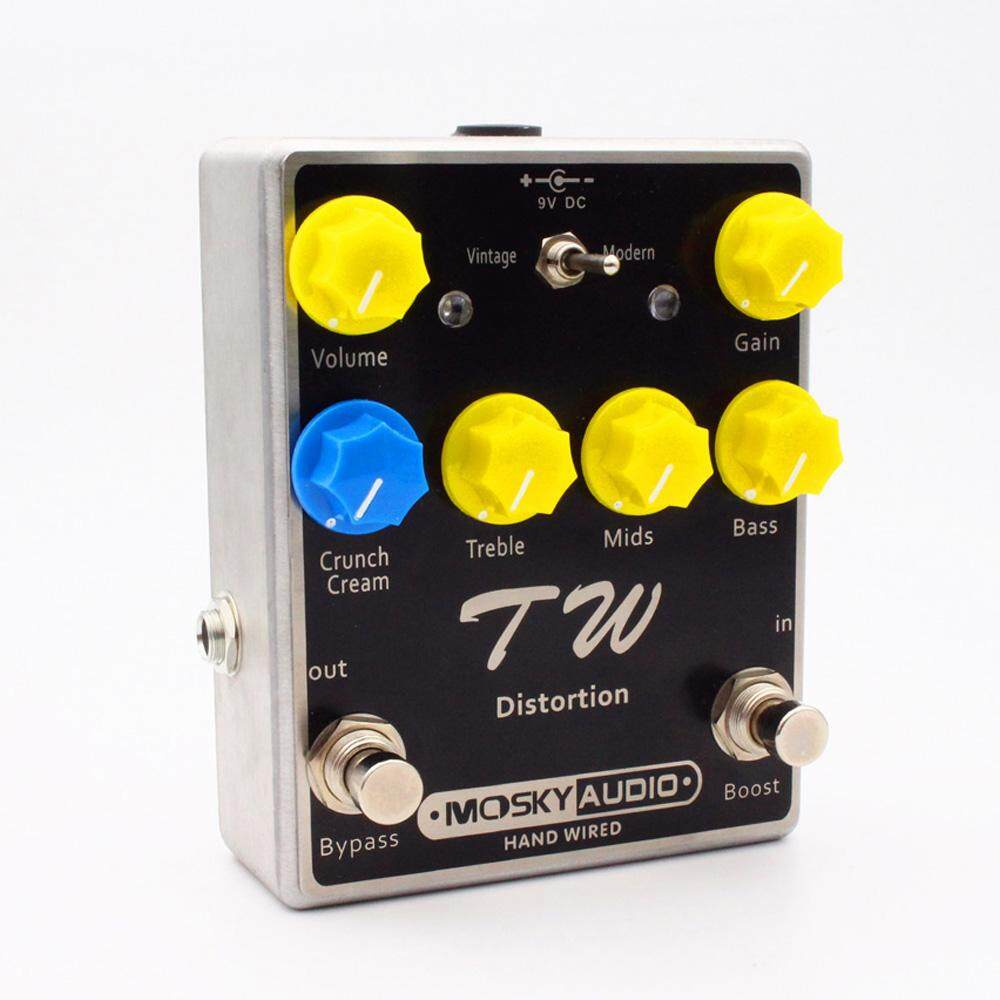 TW Distortion Guitar Effect Pedal Fine-quality with Capacitors Resistors IC Three Band EQ Guitar Effects Guitars Accessory
