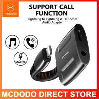 2020 Hot Spot Mcdodo Aux Bộ Chuyển Đổi Cáp Audio Sét Để 3.5Mm Jack Tai Nghe Âm Thanh Chuyển Đổi Splitter Đối Với iPhone 12 Mini 12 Pro Max 11 11 Pro X XR XS 8 7 6 5 6S Bộ Chuyển Đổi OTG (Sử Dụng Một Microphone Trong các Trò Chơi) thumbnail