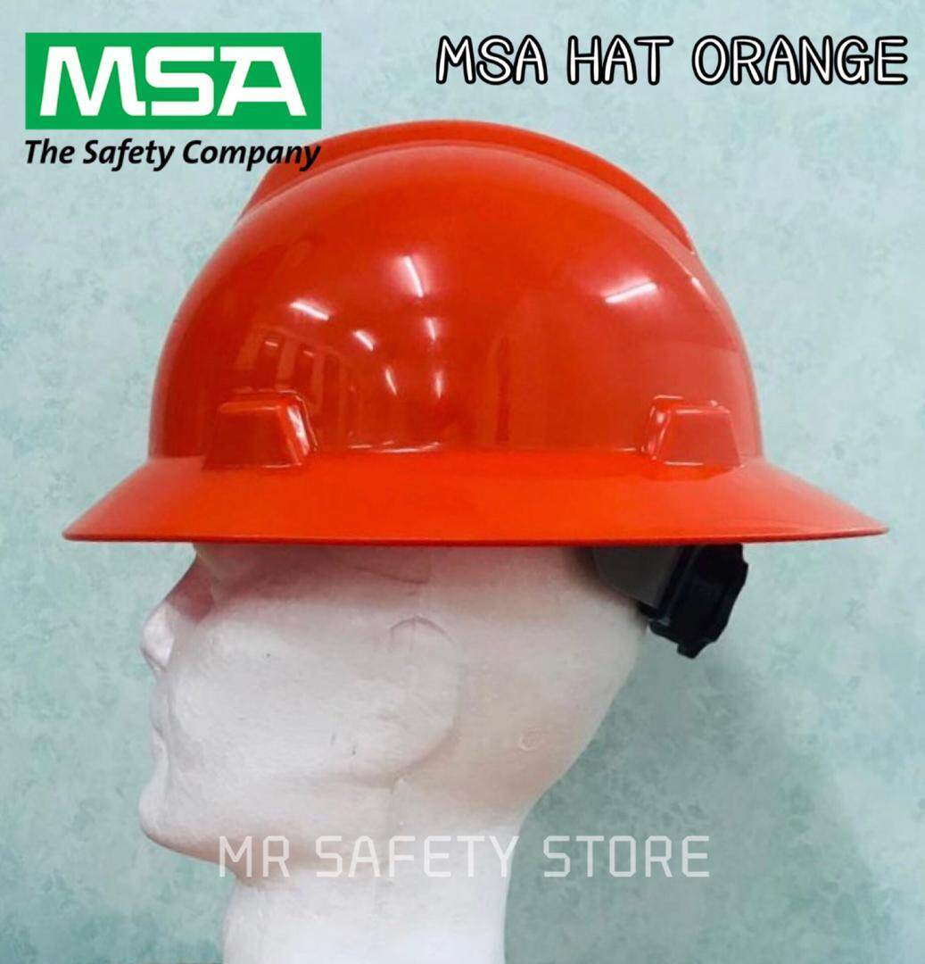 MSA V-Gard Full Brim Hard Hats - Orange