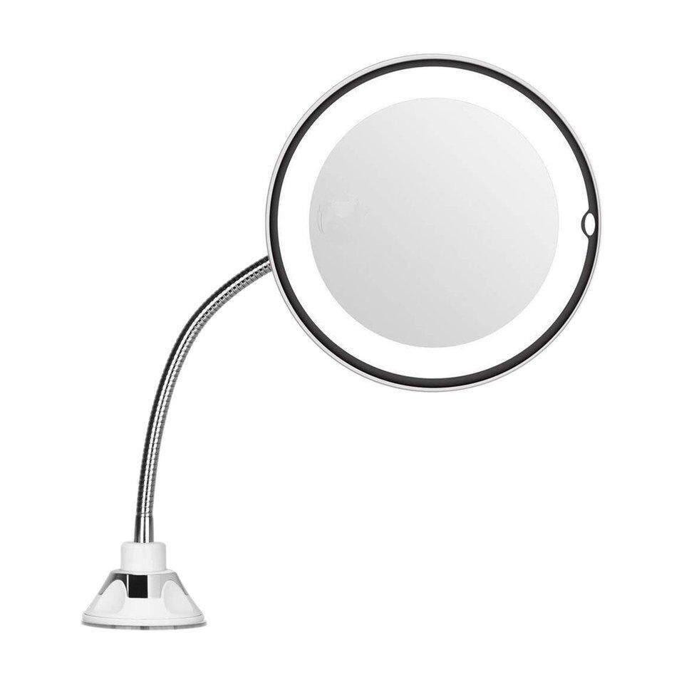 Best Sellers MIRROR Magnification 7inch Gooseneck Make Up Round Vanity Mirror for Home Bathroom use with super strong suction cups