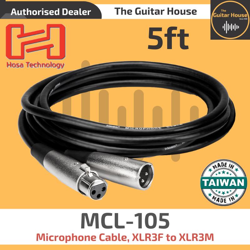 Hosa HMIC-010 Pro Microphone Cable REAN XLR3F to XLR3M 10ft