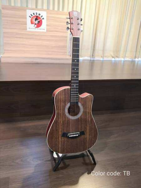 Techno T6600EQ 38 Acoustic Guitar With Bag, TB Malaysia