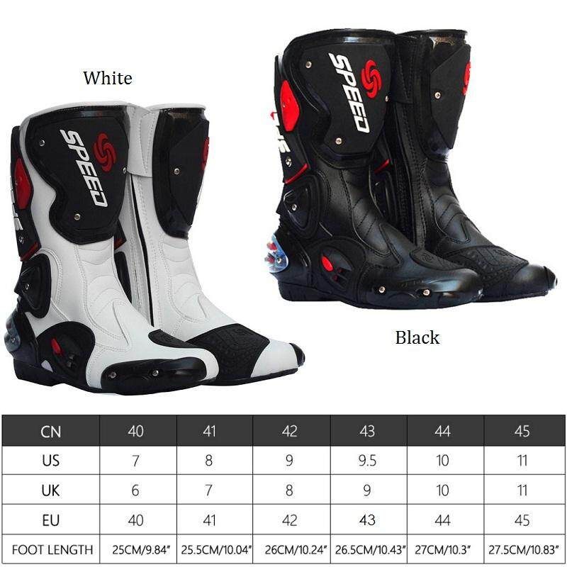 67b72cb3ad Pro-biker Waterproof Racing Motorcycle Boots Outdoor Sports Cycling Shoes  Black White