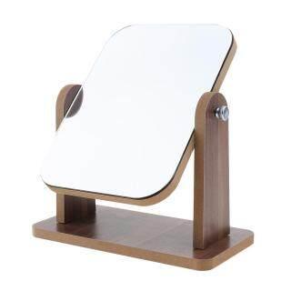 Baosity Gương Mỹ Phẩm Trang Điểm HD Để Bàn, Với Khung Gỗ Tự Do Đứng & Xoay thumbnail