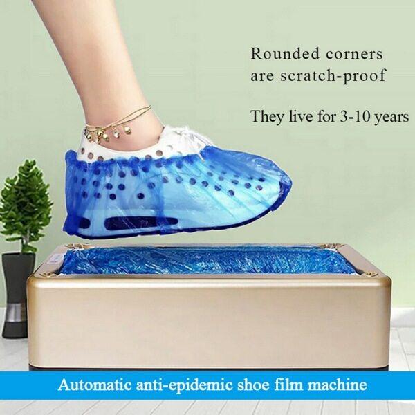 Dụng Cụ Bọc Giày Tự Động Hộ Gia Đình Dùng Một Lần Booties Nhà Sản Xuất Bọc Giày Máy Chống Bụi Bọc Giày 100 Chiếc + 1Pcs Máy