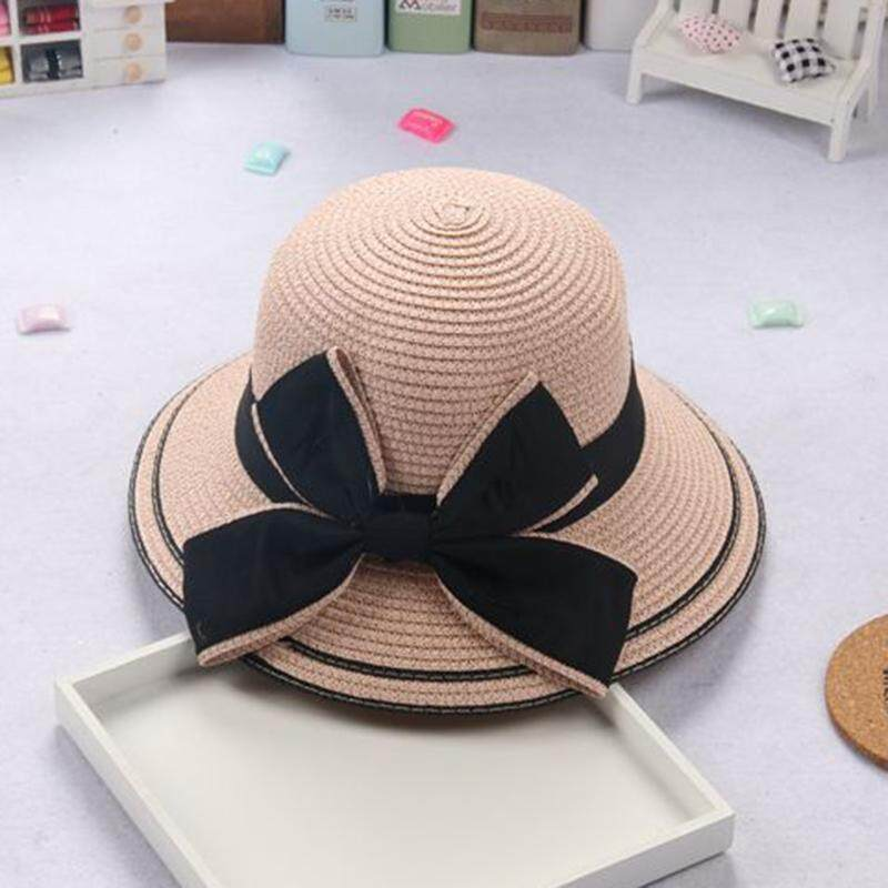 9d86a961 ❤️Cutiebaby Kids Girl Toddler Summer Bowknot Wide Brim Weave Straw Hat  Holiday Beach Sun Cap