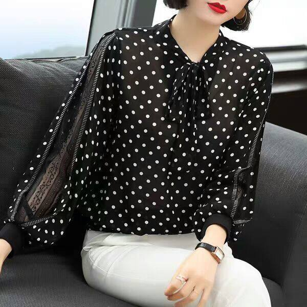 Áo voan dài dành cho nữ thiết kế thanh lịch nữ tính  dáng suông trẻ trung YF04064