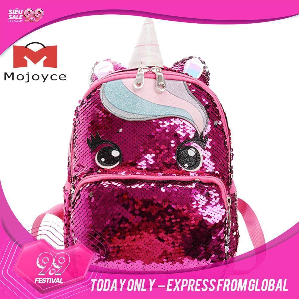 MOJOYCE Cartoon Cute Women Sequin Backpack Teenager Girl Shoulder Book Schoolbag