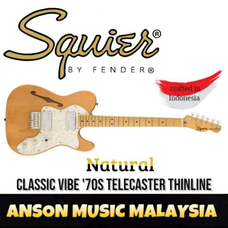 Squier Classic Vibe 70s Telecaster Thinline Electric Guitar, Maple Fingerboard, Natural Malaysia