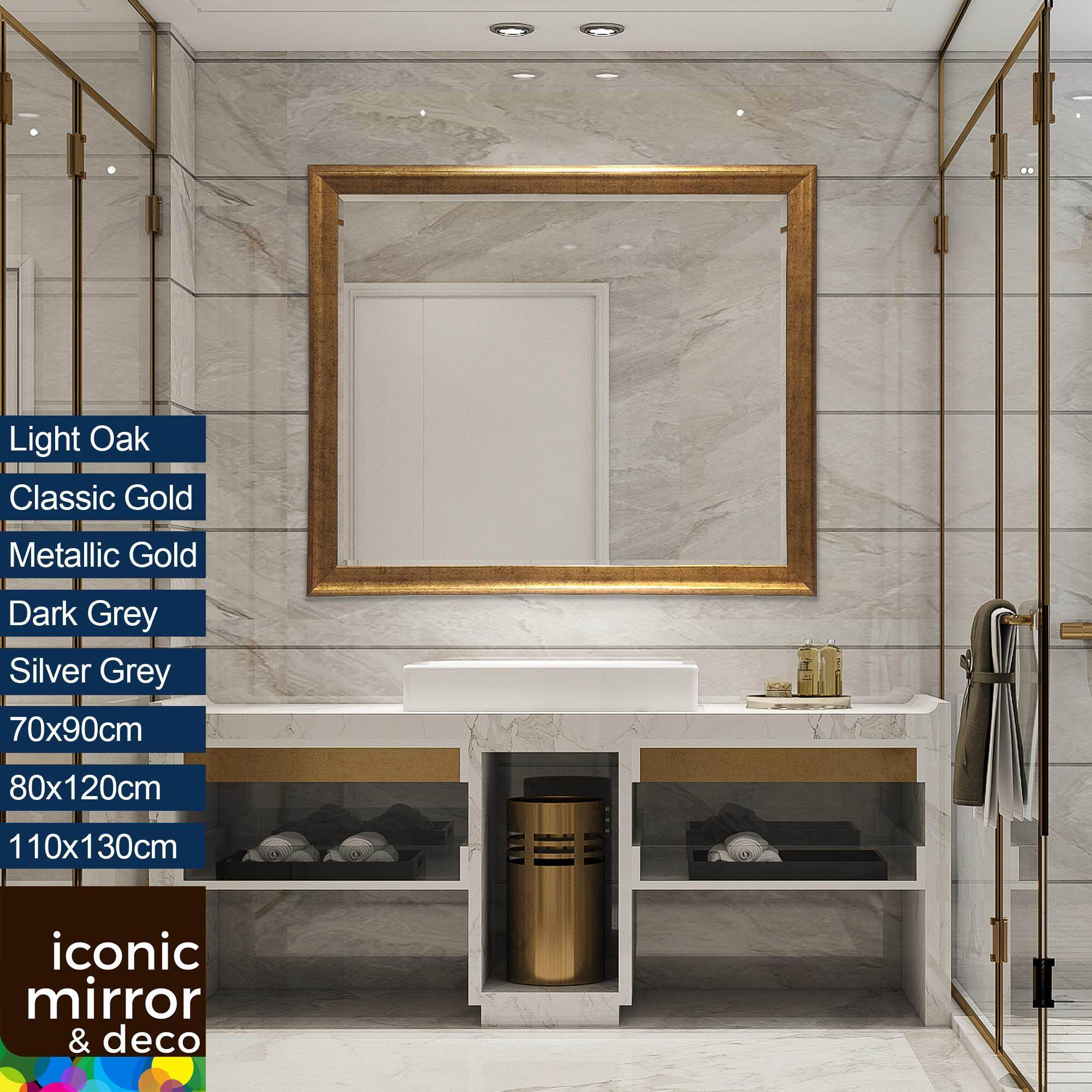 70 130cm Wall Decor Mirror Iconic Mirror M636 Bathroom Wall Stand Side Cermin Hiasan Dinding Toilet Standing Washroom Makeup Big Contemporary Large 5mm Beveled Edge Full Length Long Real Mounted 70cm 80cm
