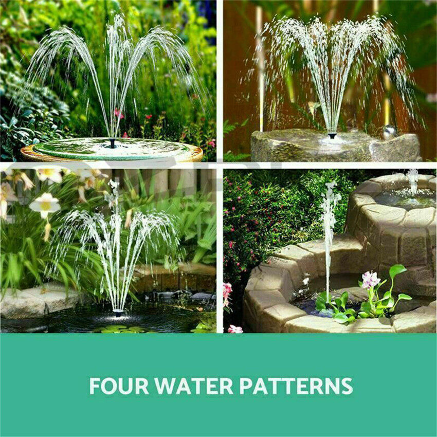 TTLIFE Solar Submersible Water Fountain Outdoor Garden Pool Pond Water Feature Pump
