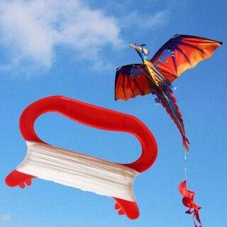 , Dây Diều Màu Đỏ Bằng Nhựa Hình Chữ D Thể Thao Ngoài Trời Diều Dây Diều Bay Phụ Kiện Cuộn Dây Diều thumbnail