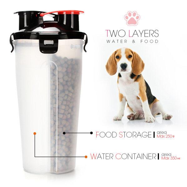 Di Động 2 Trong 1 Thú Nước Hộp Đựng Thực Phẩm Gấp Gọn Silicon Chén Ăn Cho Thú Cưng Đi Du Lịch Ngoài Trời Chó Cho Chó Mèo Cup