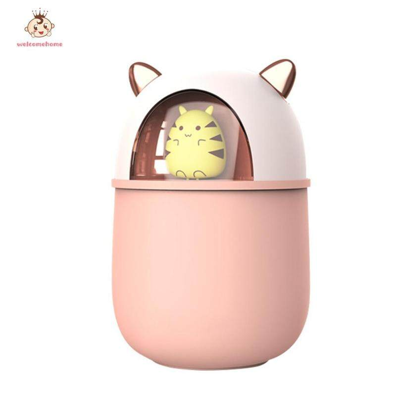 Portable 300ML Air Humidifier Essential Aroma Oil Diffuser Cute Mouse Mist Maker Home Appliances Singapore