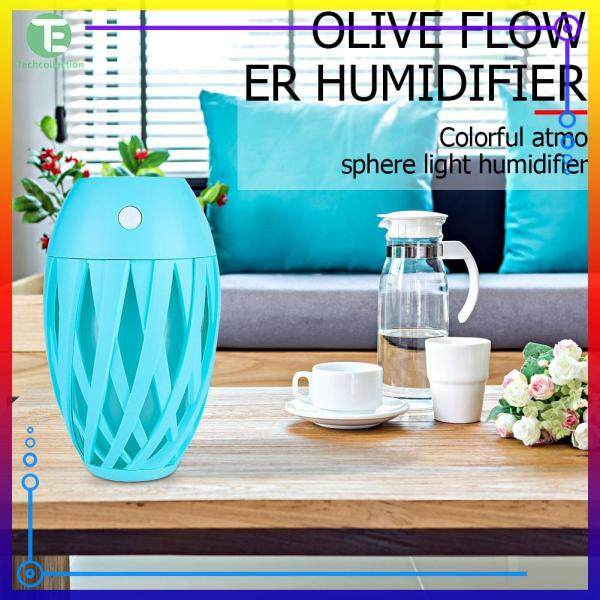 USB Mute Air Humidifier 7-Color Atmosphere Lamp LED Night Lights Air Purifier Home Decoration Singapore