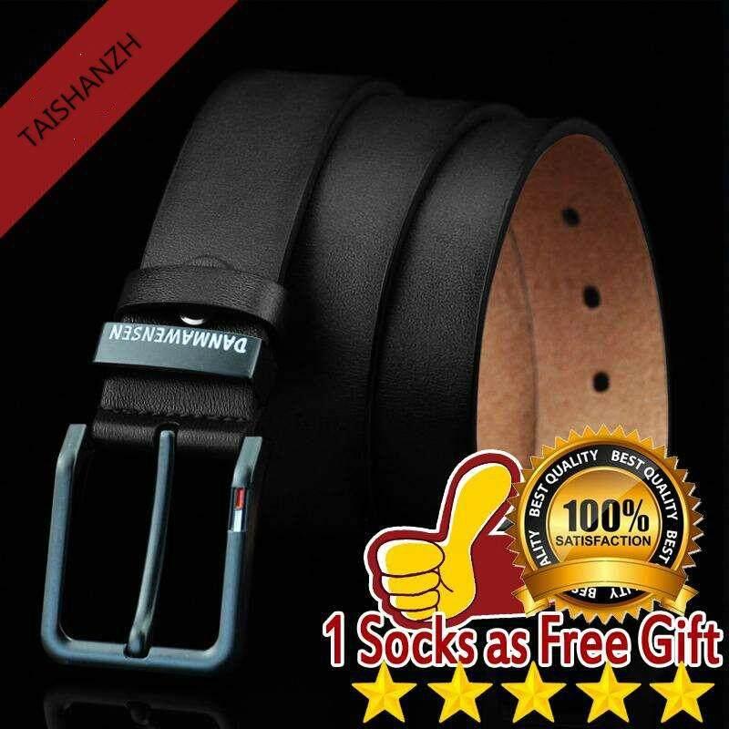 ac1081836 Men Retro Genuine Leather Belt, tali pinggang kulit Sabuk kulit asli  lelaki, Metal Pin