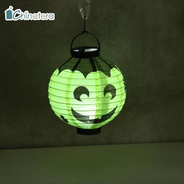 Đèn lồng bí ngô tròn 20cm chinatera, Đèn treo bóng tự làm có thể tái sử dụng, dùng cho lễ hội Halloween, trang trí nhà cửa, dùng làm quà tặng cho trẻ em, đồ thủ công