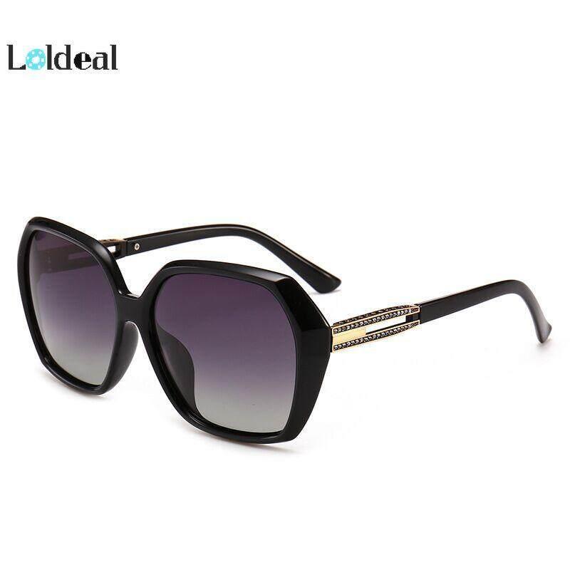 LOLDEAL Sunglasses Women's New Fashion Sunglasses Box Edge Polarized Sunshade Mirror