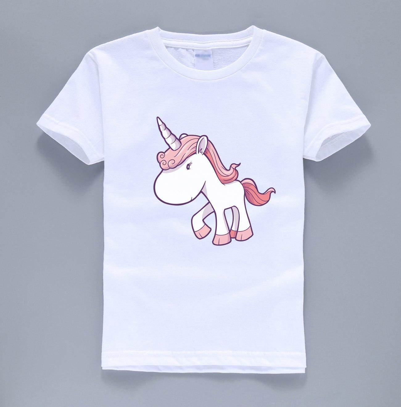0dfc3c538a04d Product details of 2019 summer new fashion hot sale unicorn printing tops t shirt  kids horse kawaii t shirts boys girls short sleeve harajuku shirt
