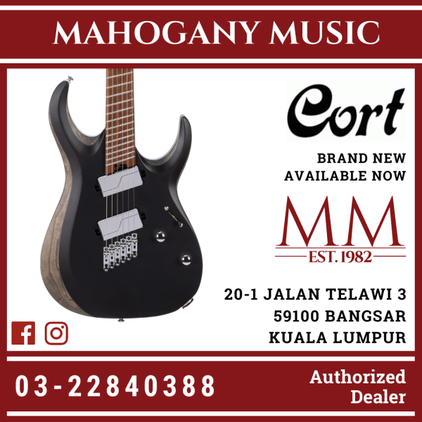 Cort X700 Mutility Black Satin Finish Electric Guitar Malaysia
