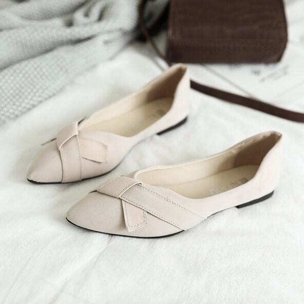 Mùa Xuân 2020 Mới Mũi Giày Đơn Giày Bệt Giày Nữ Đế Bằng Giày Cao Gót Giày Nữ Đế Mềm Giày Làm Việc Đế Mềm giá rẻ