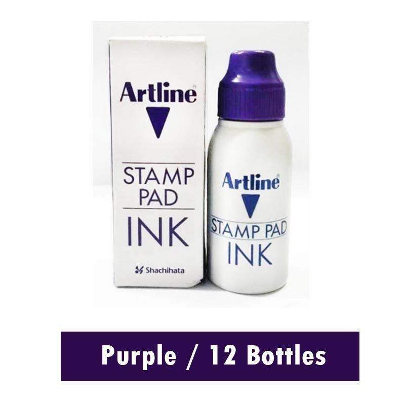 [promo] Artline 50cc / Ml Stamp Pad Refill Ink (x12 Bottles) By A2z Hub.