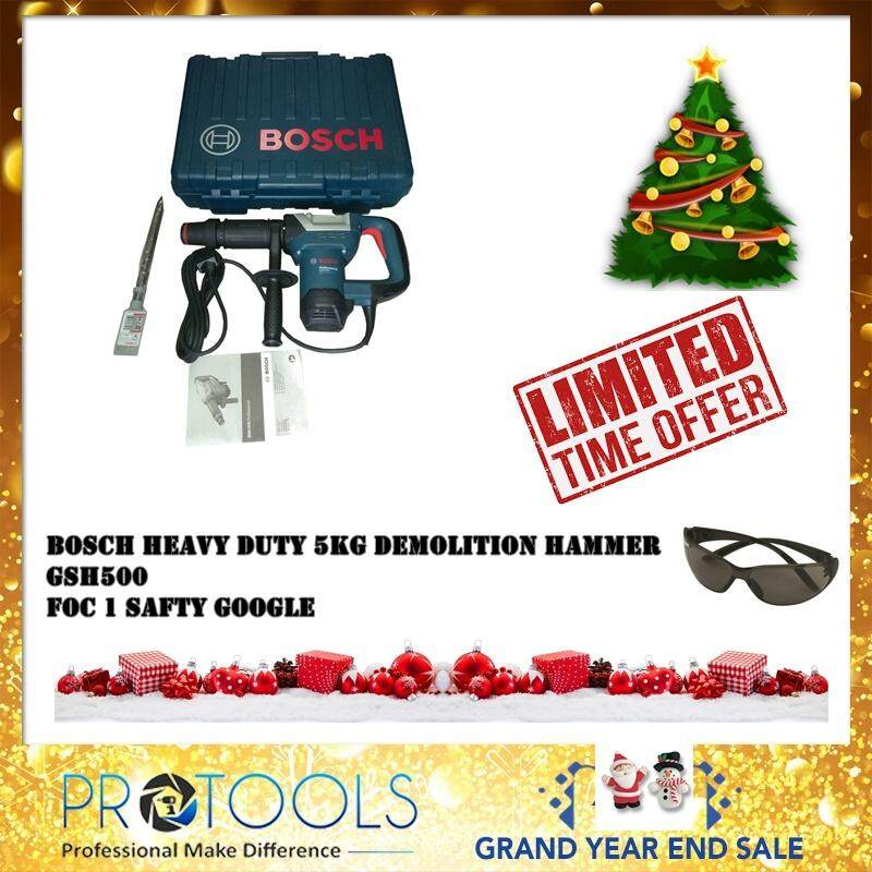 Bosch Gsh 500 Professional Demolition Hammer - 6 Month Warranty Foc 1 Safty Google By Protools One Stop Solution.