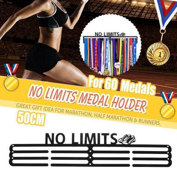 WR Sport Medal Active Sports Medal Holder + No Limits + Medal Display for 60+ Medals