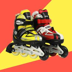 Transformers Trẻ Em 4 Bánh Xe Điều Chỉnh Inline Skate Trẻ Em Quà Tặng Rollerblade Roller Skate Cho Trẻ Em Trai Cô Gái Mới Bắt Đầu
