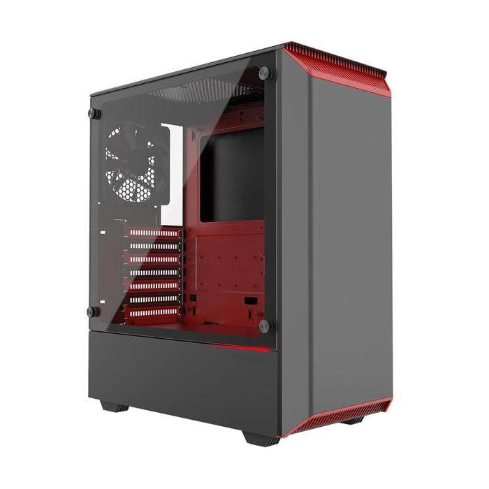 Phanteks Eclipse P300 Mid Tower ATX Case Black & Red Malaysia