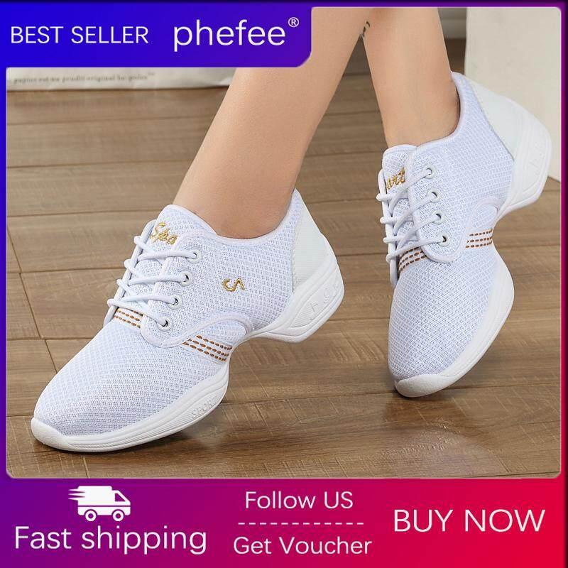 Phefee 2019 Musim Panas Baru Wanita Sepatu Wanita Sepatu Dansa Mesh Bernapas Sepatu Lembut Bawah Wanita Modern/Pelindung Sepatu