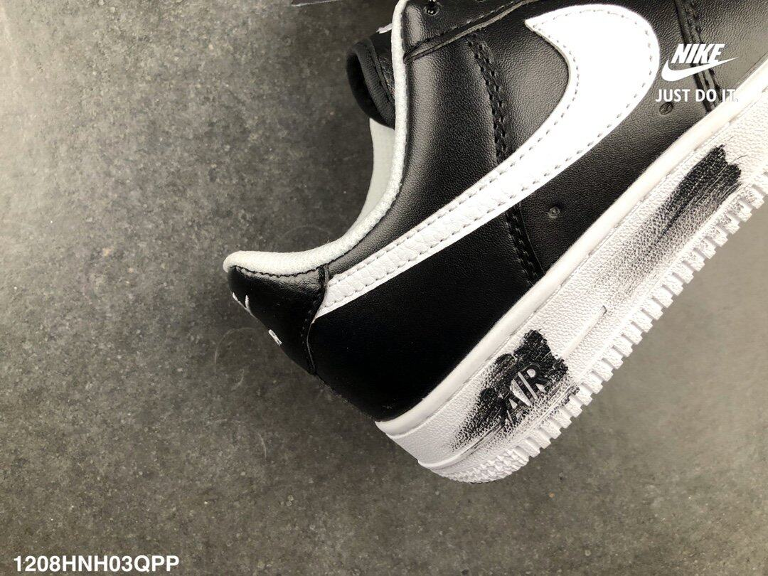 2020 Nike_Space Leather Air_ Force One Chrysanthemum Embroidered Tongue PEACEMINUSONE x Nike_Air_ Force 1 Quan Zhilong GD Joint AQ3692-001 Low-Top Sneakers Women/Men/Unisex Running Shoes