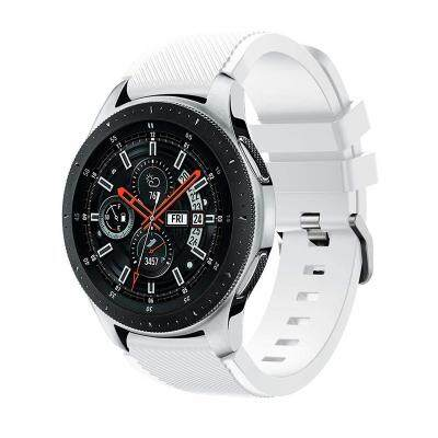 22MM Silicone Sport Strap Watch Band for Samsung Galaxy Watch 46mm SM-R800 (WHITE) Malaysia