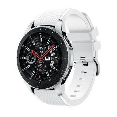 22MM Silicone Sport Strap Watch Band for Samsung Galaxy Watch 46mm SM-R800 (WHITE) Malaysia