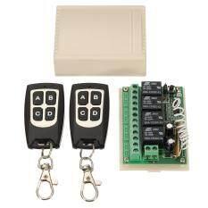 LA 12 V 4CH Kênh 433 Mhz Không Dây Điều Khiển Từ Xa Mạch Tích Hợp với 2 Bộ Phát DIY Thay Thế Phần Công Cụ bộ dụng cụ