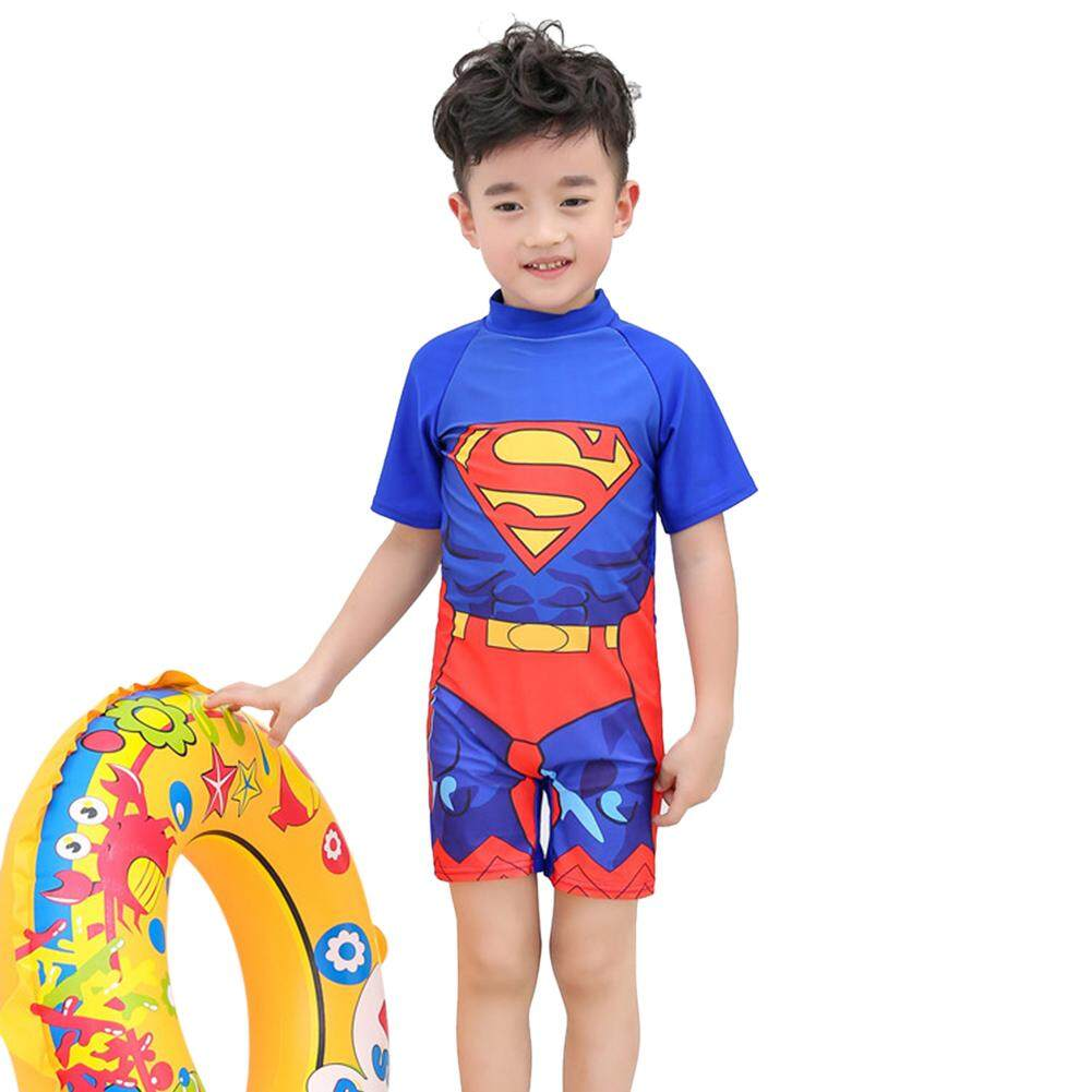 Cartoon Boy Kids Swimsuit Muslimah Swimwear By Ytgp Fashion.