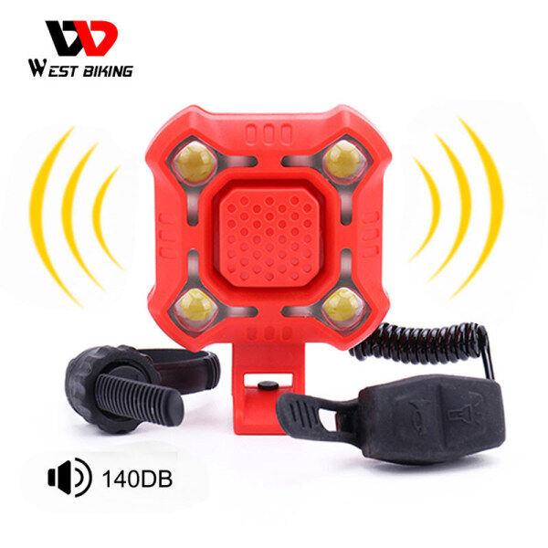 Đèn Xe Đạp Chống Nước West Biking Đèn Pha Còi Xe Đạp Đa Năng Sạc USB Đèn Còi Xe Đạp Leo Núi Điện 2 Trong 1
