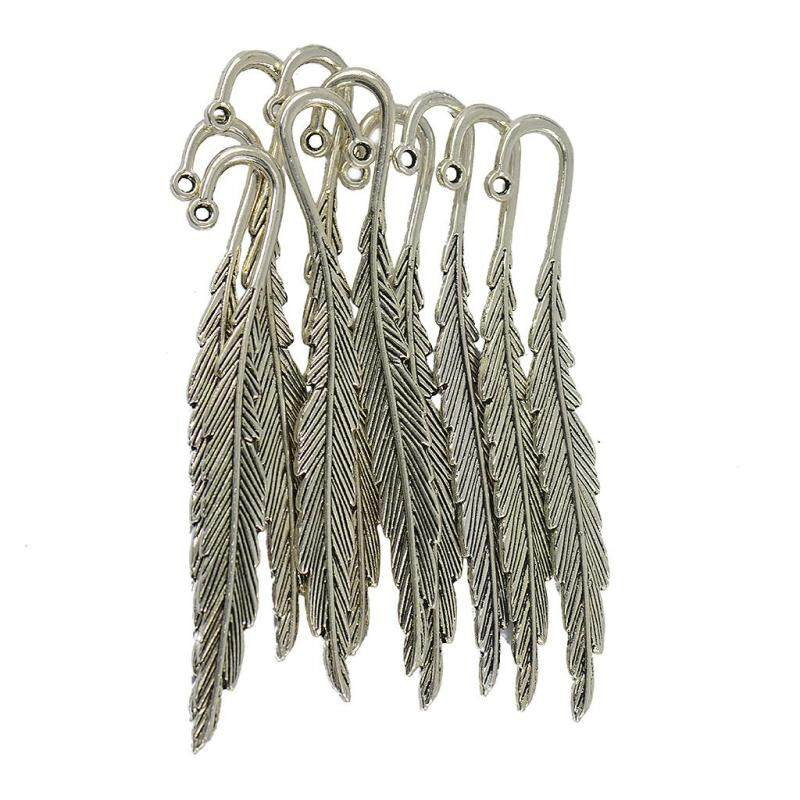 Baoblade Pack of 30pcs Vintage Feather Metal Bookmarks DIY Jewelry Findings Malaysia