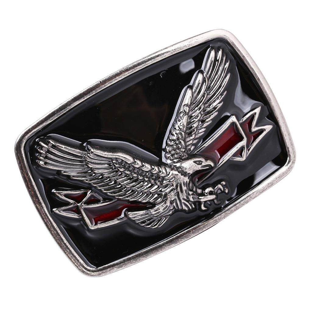 Men Vintage Belt Buckle Bull Eagle Head Logo Zinc Alloy Motorcycle Belt Buckle p