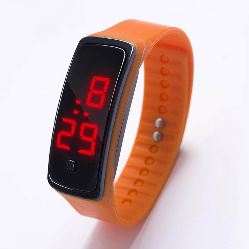 Fashion Men Women Casual Sports Bracelet Watches Electronic Digital Candy Color Unisex Silicone Watch Malaysia