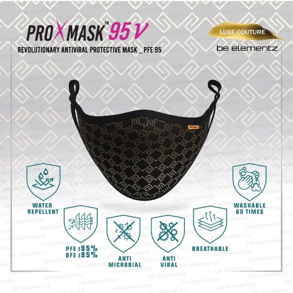 PROXMASK 95V - PFE95 Anti-Viral Protective Mask Microfiltration BFE PFE Anti-Microbial and Water Repellent FFM0015 / FFM0014