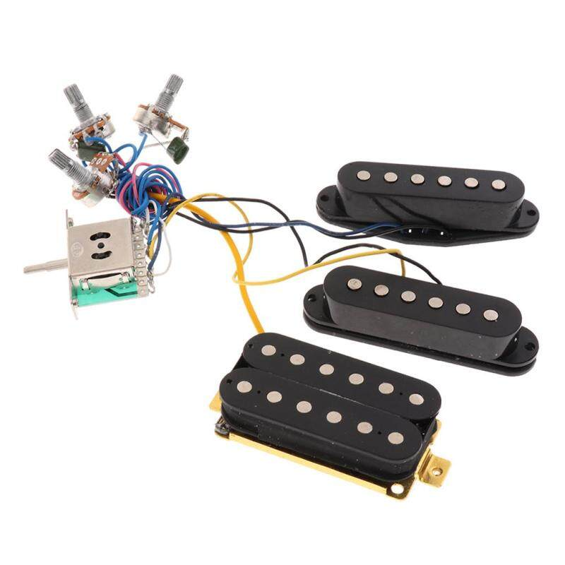 Magic Sound Wiring Harness Kit for ST Electric Guitar, 3-position Toggle Switch Electronics Replacements Malaysia