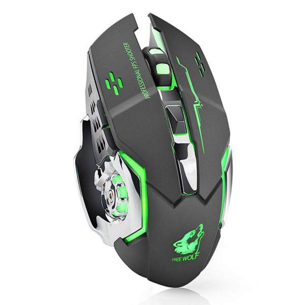 X8 Wireless 2.4GHz Mute Rechargeable Mouse LED Backlit 1800DPI Optical Mice Singapore
