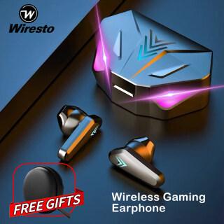 Wiresto Tai Nghe Không Dây Tai Nghe Gaming Bluetooth 5.0 Tai Nghe Màn Hình LED RGB Tai Nghe Thể Thao Tai Nghe Vô Hình Nhỏ Gọi Hai Tai Điều Khiển Cảm Ứng Có Hộp Đựng Micro Hộp Sạc thumbnail