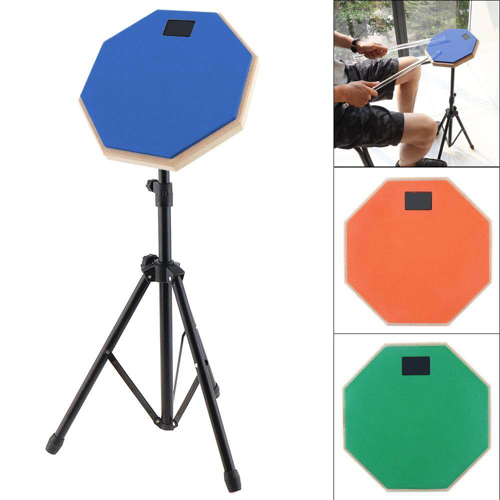 8 Inch Rubber Wooden Dumb Drum Practice Training Drum Pad with Stand 3 Colors